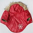 billiga Hundkläder-Katt Hund Kappor Huvtröjor Hundkläder Snöflinga Röd Cotton Kostym För husdjur Cosplay