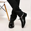 povoljno Obuća za dvoranski ples i moderne plesove-Muškarci Plesne cipele Mikrovlakana Moderna obuća / Standardni Vezanje Štikle Niska potpetica Nemoguće personalizirati Crna / Bijela / EU43