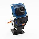 preiswerte Roboter Zubehör-2-Achs-Schwenkkopf FPV Kamera + OV7670 Kamera-Set für Roboter / r / c Auto - Schwarz + Blau