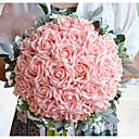 "baratos Bouquets de Noiva-Bouquets de Noiva Buquês Casamento Poliéster Cetim Espuma 12.6""(Aprox.32cm)"