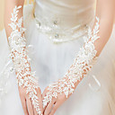 cheap Wedding Garters-Lace / Polyester Elbow Length Glove Classical / Bridal Gloves / Party / Evening Gloves With Solid