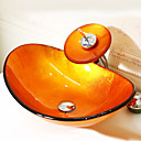 billige Fritstående håndvask-Badeværelse Håndvask Badeværelse Vandhane Badeværelse Monteringsring Badeværelse Vandafløb Moderne - Hærdet Glas Rektangulær