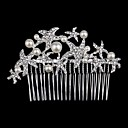 cheap Party Headpieces-Crystal / Rhinestone / Fabric Tiaras with 1 Wedding / Special Occasion / Party / Evening Headpiece