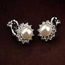 cheap Toilet Brush Holder-Women's Clip Earrings / Earrings - Pearl, Rhinestone Flower Vintage, Party, Cute White / Black For Daily