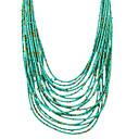 preiswerte Strandketten-Damen Glasperlen Stränge Halskette - Modisch Kaffee, Rot, Grün Modische Halsketten Für Party, Alltag, Normal