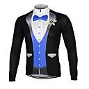 זול צִיוּר קִיר-Arsuxeo בגדי ריקוד גברים שרוול ארוך חולצת ג'רסי לרכיבה - שחור אדום כחול חליפת חולצת טי אופנייים ג'רזי צמרות, נושם ייבוש מהיר עיצוב אנטומי 100% פוליאסטר / סטרצ'י (נמתח)