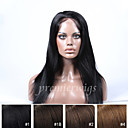 cheap Human Hair Wigs-Human Hair Full Lace Wig Straight Wig 130% Natural Hairline / African American Wig / 100% Hand Tied Women's Short / Medium Length / Long Human Hair Lace Wig