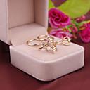 abordables Pendientes-Mujer - Diamante Sintético Forma de Hoja, Amor Lujo, Moda Tamaño Único Dorado / Plata Para Fiesta