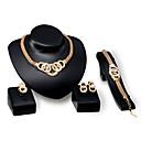 رخيصةأون مجموعات المجوهرات-للمرأة مجموعة مجوهرات - موضة تتضمن ذهبي من أجل زفاف حزب يوميا / الحلقات
