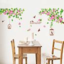 baratos Adesivos de Parede-Paisagem Natal Floral Desenho Animado Botânico Adesivos de Parede Autocolantes de Aviões para Parede Autocolantes de Parede Decorativos,