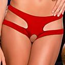 billige Brudesko-Dame Store størrelser Ultrasexy truse Ensfarget Polyester Gul Rød Grønn Blå Rosa