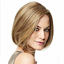 cheap Synthetic Capless Wigs-Synthetic Wig Women's Straight Golden Asymmetrical Synthetic Hair Natural Hairline Golden / Blonde Wig Short Capless Blonde