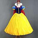 cheap Movie & TV Theme Costumes-Princess Fairytale Cosplay Costume Women's Movie Cosplay Yellow Dress Headpiece Cloak Halloween New Year Satin Velvet