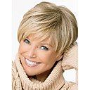 cheap Synthetic Wigs-Synthetic Wig Straight Pixie Cut / With Bangs Synthetic Hair Side Part Blonde Wig Women's Short Capless