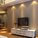 cheap Wallpaper-Stripe Home Decoration Contemporary Wall Covering, Non-woven Paper Material Adhesive required Wallpaper, Room Wallcovering