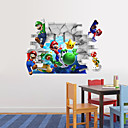 preiswerte Wand-Sticker-Tiere Menschen Romantik Mode Formen 3D Sport Feiertage Cartoon Design Fantasie Wand-Sticker 3D Wand Sticker Dekorative Wand Sticker, Vinyl