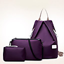 cheap Bag Sets-Women's Bags Nylon Travel Bag / Backpack / Bag Set 3 Pcs Purse Set Solid Colored Fuchsia / Blue / Wine / Bag Sets