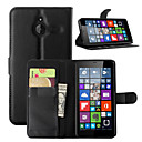 cheap Cell Phone Cases & Screen Protectors-Case For Nokia Lumia 540 Nokia Lumia 640 Nokia Nokia Lumia 730 Nokia Case Card Holder Wallet with Stand Full Body Cases Solid Color Hard