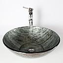 levne Umyvadla-Starožitný 1.2*42*14.5 Kulatý dřez Materiál je Tvrzené skloKoupelnový dřez kohoutek do koupelny Montážní kroužek do koupelny Koupelnový