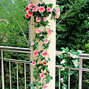 hesapli Doğal Renkli Ek Saçlar-Yapay Çiçekler 1 şube Düğün Çiçekleri Güller Masaüstü Çiçeği