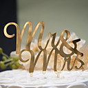 cheap Wedding Decorations-Mirror Surface Cake Topper Mr & Mrs (2 color)