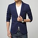 ieftine Inele Bărbați-Bărbați Zvelt Mărime Plus Size Blazer Business Formal-Mată / Manșon Lung / Muncă