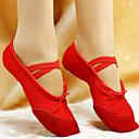 olcso Balettcipők-Női Balettcipők Bőr / Vászon Lapostalpú Fűző Lapos Szabványos méret Dance Shoes Fehér / Piros / Rózsaszín