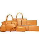 cheap Bag Sets-Women's Bags PU Tote / Shoulder Bag / Bag Set 6 Pieces Purse Set Brown / Blue / Wine