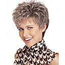 cheap Synthetic Capless Wigs-Synthetic Wig Natural Wave Pixie Cut Synthetic Hair Gray Wig Women's Short Capless