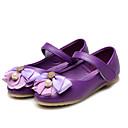 olcso Kislány cipők-Lány Cipő Bőrutánzat Tavaszi nyár Kényelmes / Virágoslány cipők Lapos Strasszkő / Csokor / Glitter mert Bíbor / Rózsaszín