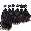 hesapli Suni Çiçek-Düz Brezilya Saçı Doğal Dalgalar Virgin Saç İnsan saç örgüleri 6 Demetleri 2*10 2*12 2*14 inç İnsan saç örgüleri İnsan Saç Uzantıları