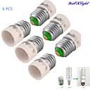baratos Acessórios de Iluminação-youoklight® 6pcs e27 para e14 conversor adaptador de lâmpada de luz - prata + branco