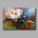 billige Blomster-/botaniske malerier-Hang malte oljemaleri Håndmalte - Abstrakt Moderne Lerret