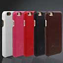 abordables Fundas para Teléfono & Protectores de Pantalla-Funda Para iPhone 6s iPhone 6 Apple iPhone 6 Other Funda Trasera Color sólido Dura piel genuina para iPhone 6s iPhone 6