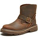 abordables Botas de Hombre-Unisex Fashion Boots Seda / Cuero de Napa Otoño / Invierno Botas Botines / Hasta el Tobillo Café