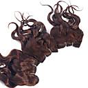 economico Onde di capelli veri-3 pacchetti Brasiliano Riccio Tessitura riccia 8A Ciocche a onde capelli veri Tessiture capelli umani Estensioni dei capelli umani