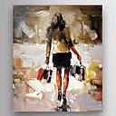 abordables Portraits-Peinture à l'huile Hang-peint Peint à la main - Célèbre Moderne Inclure cadre intérieur / Toile tendue