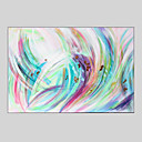 cheap Oil Paintings-Oil Painting Hand Painted - Abstract Modern Stretched Canvas