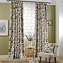 cheap Blackout Curtains-Blackout Curtains Drapes Living Room Polyester Print & Jacquard