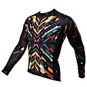 cheap Cycling Jerseys-ILPALADINO Men's Long Sleeve Cycling Jersey - Black Bike Jersey, Quick Dry, Ultraviolet Resistant, Breathable Polyester