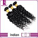preiswerte Einbauleuchten-3 Bündel Indisches Haar Locken / Klassisch / Curly Webart Unbehandeltes Haar Menschenhaar spinnt Menschliches Haar Webarten Haarverlängerungen