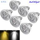 billige Taklamper-YouOKLight 6pcs 4 W 320-350 lm GU5.3(MR16) LED-spotpærer MR16 4 LED perler Høyeffekts-LED Mulighet for demping / Dekorativ Varm hvit / Kjølig hvit 12 V / 6 stk. / RoHs