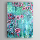 cheap Floral/Botanical Paintings-Oil Painting Hand Painted - Abstract Modern Canvas