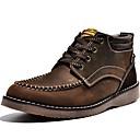 olcso Férfi sportcipők-Cowboy / Western Csizmák-Vastag-Női cipő-Csizmák-Szabadidős Alkalmi-Nappa Leather-Sárga Barnás szürke