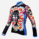 cheap Abstract Paintings-ILPALADINO Women's Long Sleeve Cycling Jersey - Rainbow / Rainbow Floral / Botanical Bike Jersey, Quick Dry, Breathable