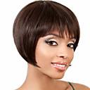 povoljno Capless-Ljudski kose bez kaplama Ljudska kosa Ravan kroj Kratke frizure 2019 Stil Capless Perika