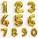 baratos Balões-10pcs grande número de ouro 0-9 balões ano novo decoração de casamento festa de natal balão