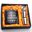 cheap Religious Jewelry-Personalized Stainless Steel Barware & Flasks Hip Flasks Bride Groom Bridesmaid Groomsman Wedding Congratulations