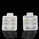 cheap Earrings-Women's Pearl Stud Earrings - Pearl, Imitation Pearl White For Wedding / Party / Daily