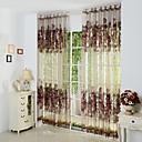preiswerte Gardinen-Schlaufen für Gardinenstange Ösen Schlaufen Zweifach gefaltet plissiert zwei Panele Window Treatment Europäisch , Hohl-Gravur Polyester